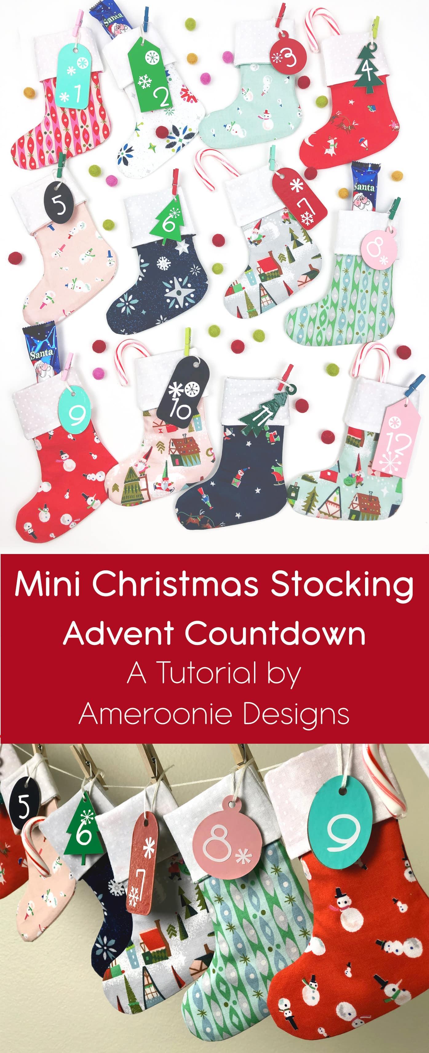 Christmas Stocking DIY Advent Calendar  The Polka Dot Chair
