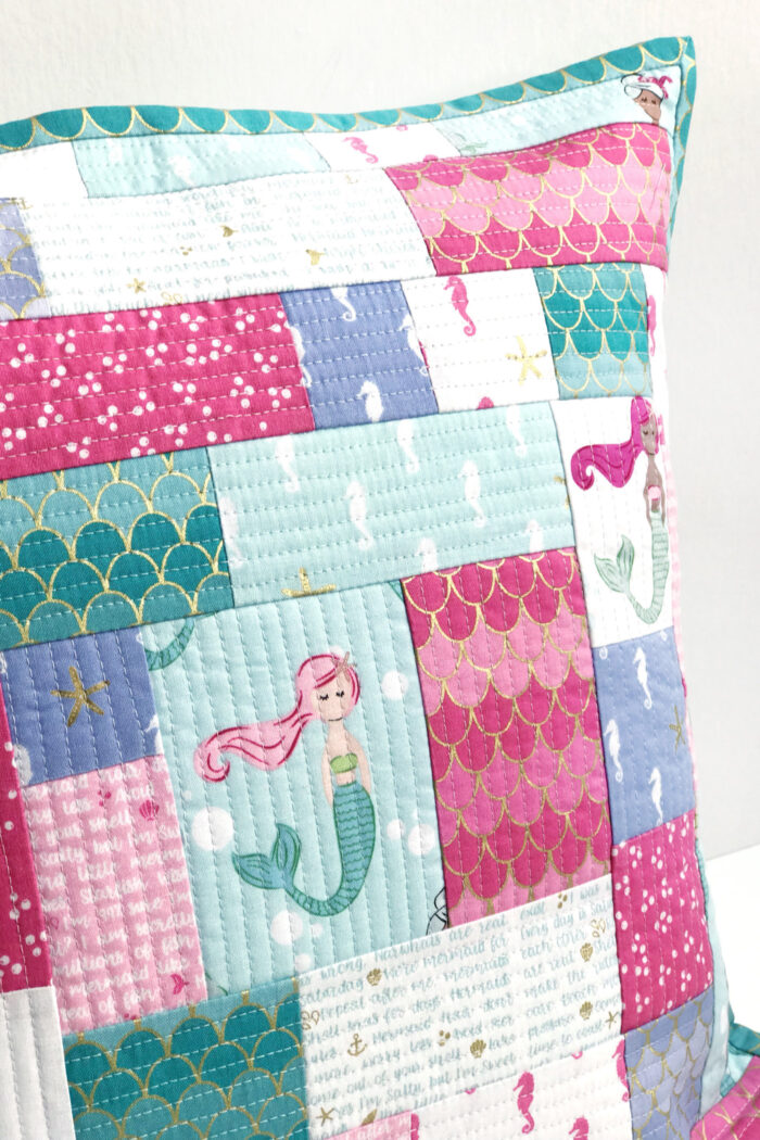 How to Make a Simple Patchwork Pillow using the Quilt As