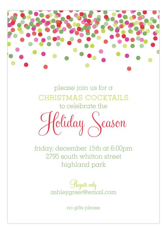 Christmas Confetti Invitation