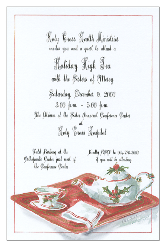 Christmas Tea Party Invitations For The Holidays Holiday
