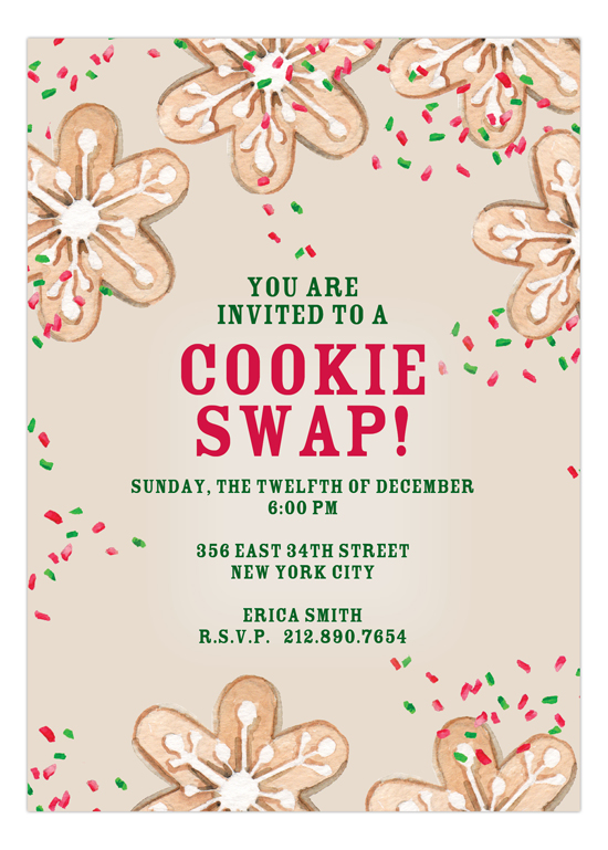 Cookie Swap Invitation You Are Invited To A Cookie Swap