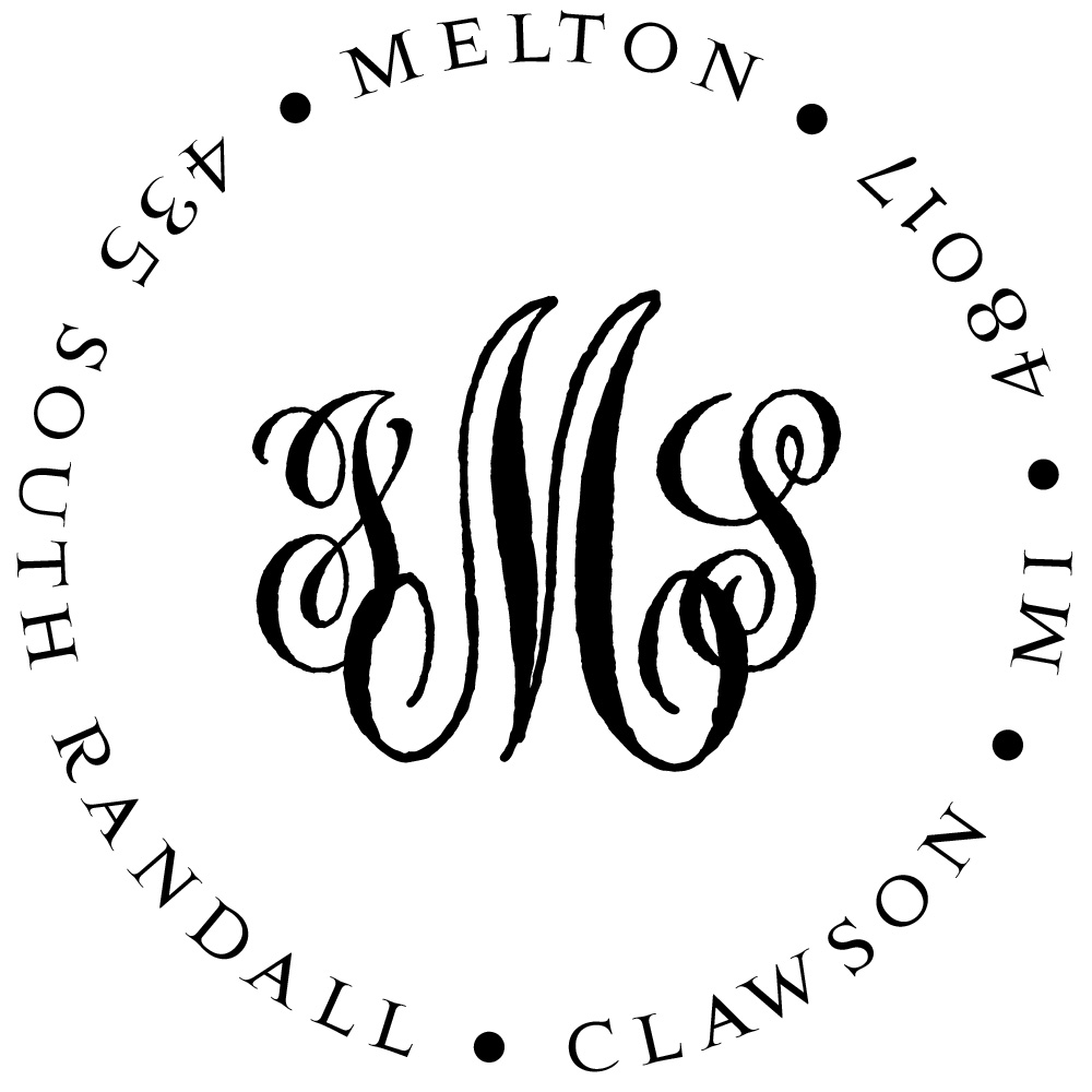 Cipher Deluxe Personalized Monogram Stamp