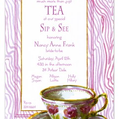 Personalized Kitchen Gifts Small Drop Leaf Table Tea Cup Invite | Polka Dot Design