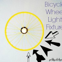 Bicycle Wheel Light Fixture