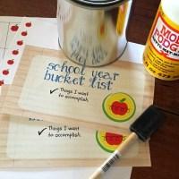 Back To School Bucket List Idea
