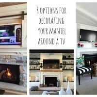 Decorating Around A TV Over A Mantel