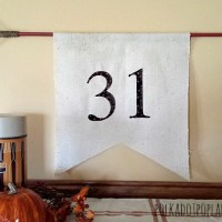 Halloween Pennant Flag DIY