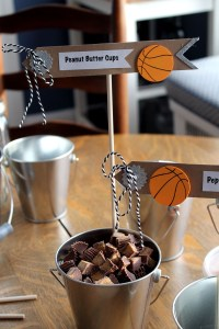 basketball ice cream toppings   polka dots and picket fences
