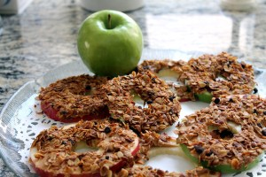 apple and granola snack | polka dots and picket fences