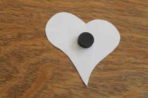 polka dots and picket fences | washi tape heart magnets
