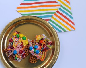 rainbow party mix | polka dots and picket fences