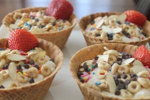 yogurt sundaes | polka dot and picket fences