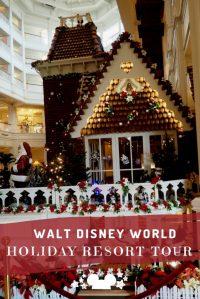 Disney Resort Holiday Decorations Tour at Walt Disney ...