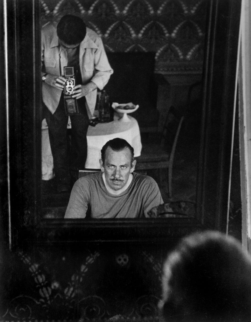 Robert Capa et John Steinbeck.