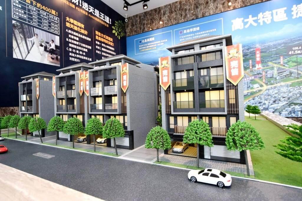 佳上佳地產在高雄大學城推出的「大學墅」透天別墅社區案