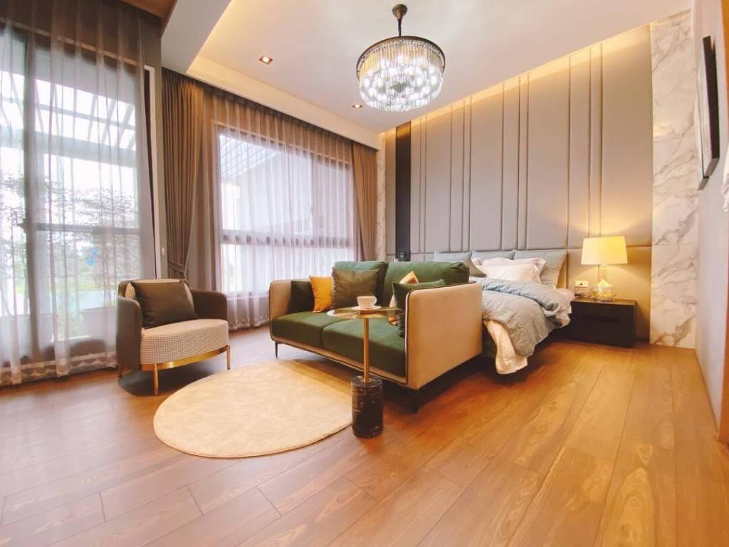 翔禾藏媺2樓為大面落地窗設計,可規劃單層大主臥