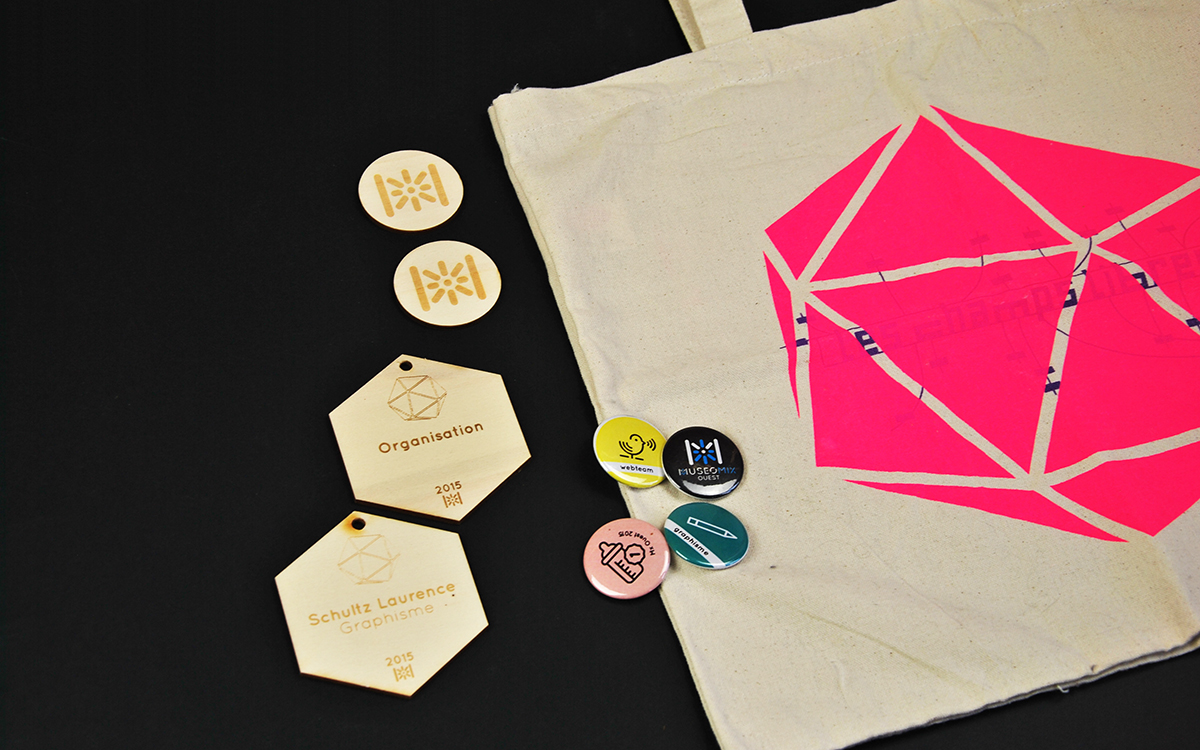 Museomix totebag badge