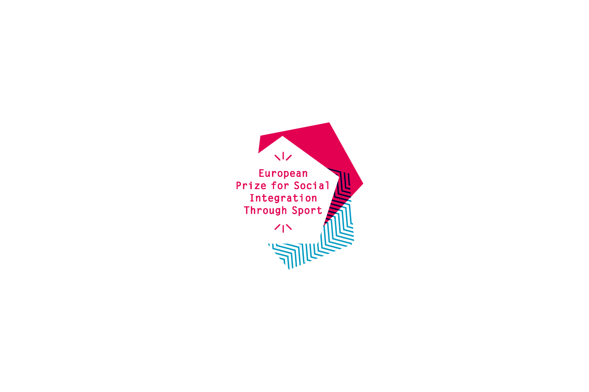 Logo for the European Prize For Social Integration Through Sport