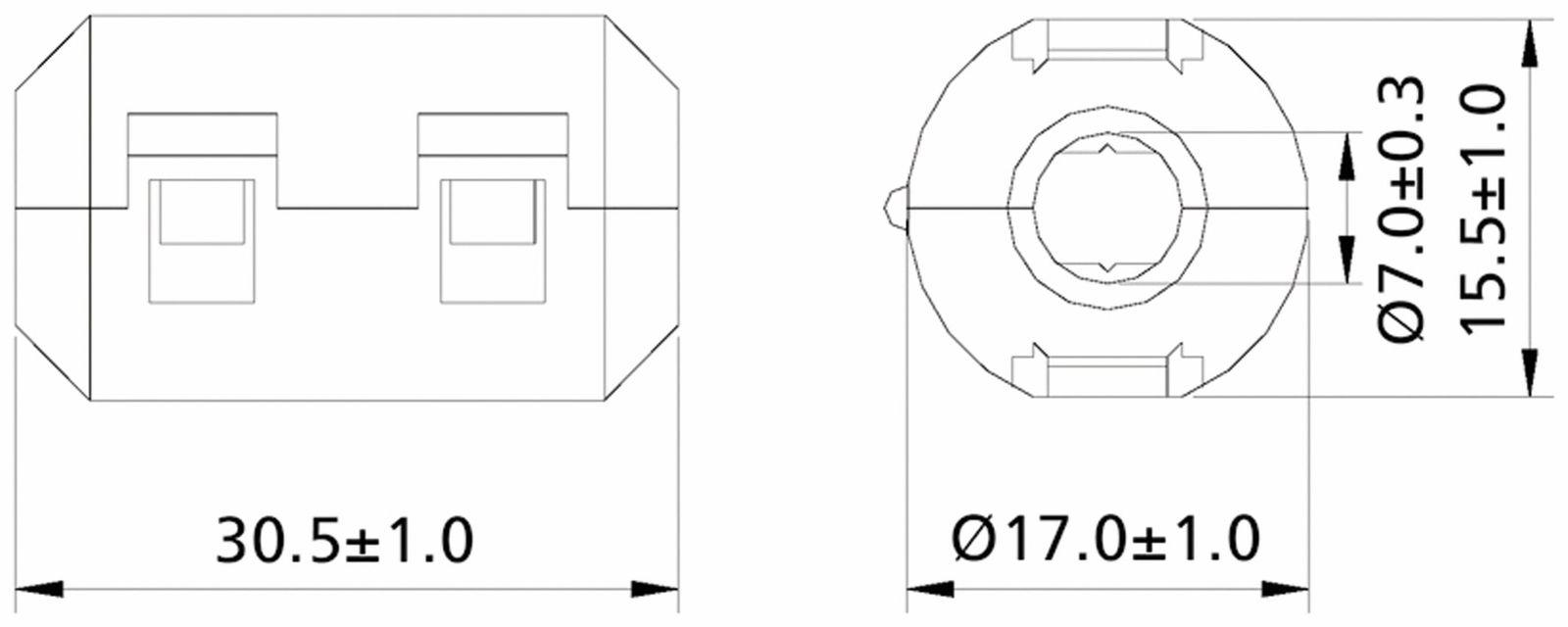 Klappferrit Entstorfilter Rf75 150 Fur Kabeldurchmesser