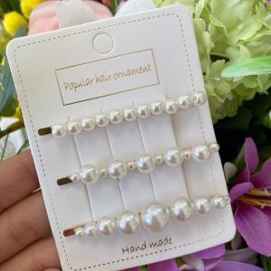 Molletta con perle tris