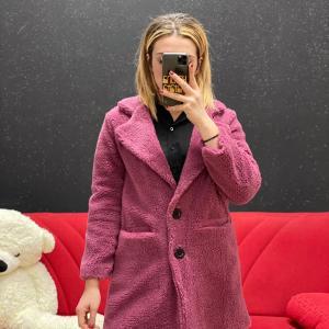 Teddy corto rosa