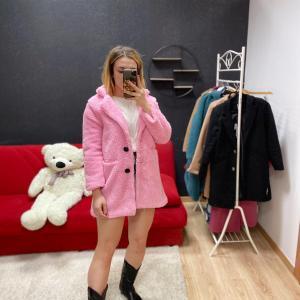 Teddy corto rosa barbie