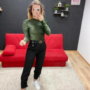 Pantalone con lacci black