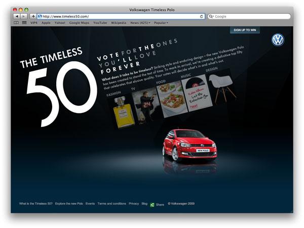 2009 Volkswagen Polo Timeless 50 website