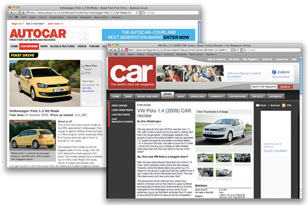 2009 Volkswagen Polo Autocar and Car tests
