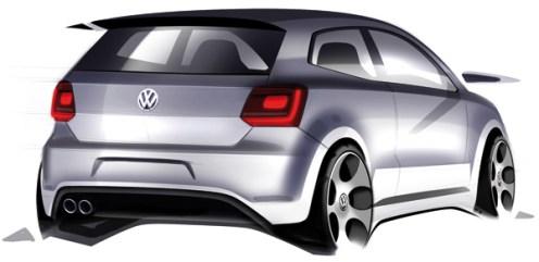 2010 Volkswagen Polo GTI rendering sketch