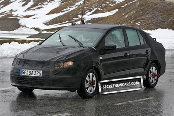 2010 Volkswagen Polo Sedan spyshot