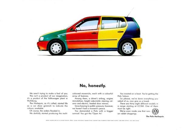 1996 Volkswagen Polo Harlequin advertisement