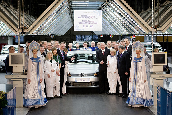 Volkswagen Polo Highline becomes 700,00th car produced at Volkswagen Kaluga plant