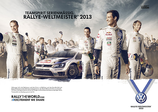 2013 Volkswagen WRC celebration marketing campaign