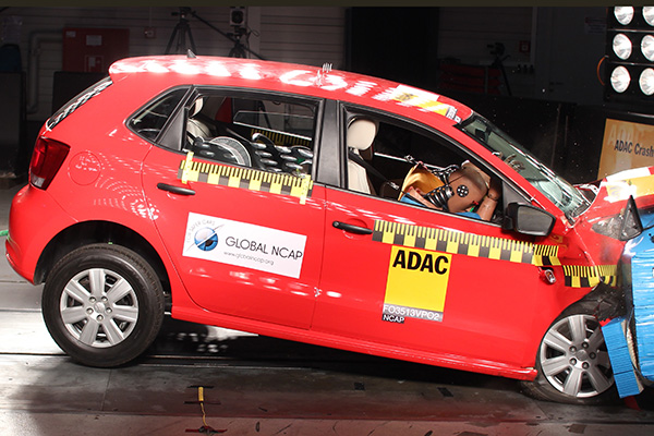 2014 Volkswagen Polo (India): Global NCAP crash test – no airbags