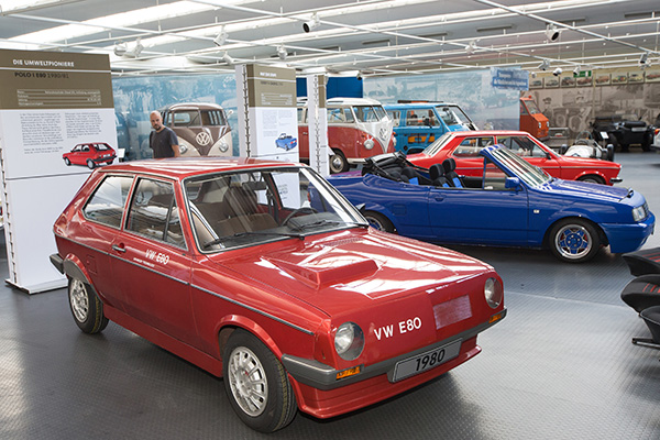 The 'VW 80' is an eco-Polo prototype. A Derby Cabrio can also been at the AutoMuseum Volkswagen exhibition