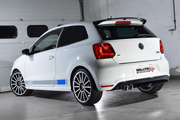 Milltek Sport exhaust system for 2013 Volkswagen Polo R WRC