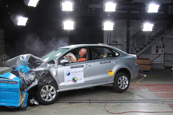 2015 Volkswagen Vento: Latin NCAP crash test