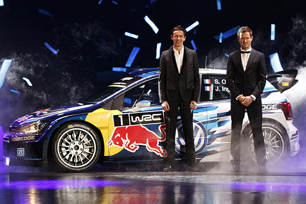2015 Volkswagen Polo R WRC: Sébastien Ogier and Julien ingrassia at FIA Prize-giving Gala