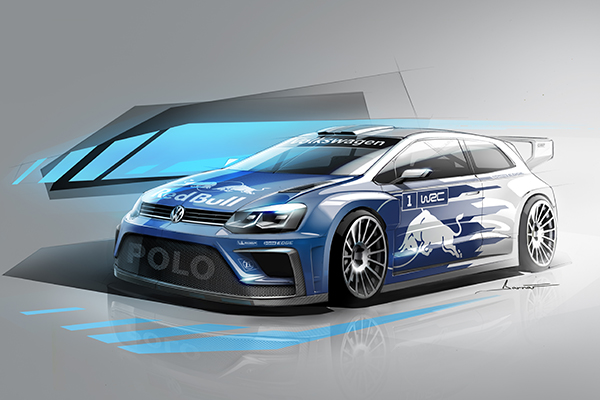 2017 Volkswagen Polo R WRC (illustration)