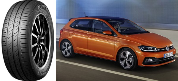 Kuhmo Ecowing to be standard-fit on 2017 Volkswagen Polo