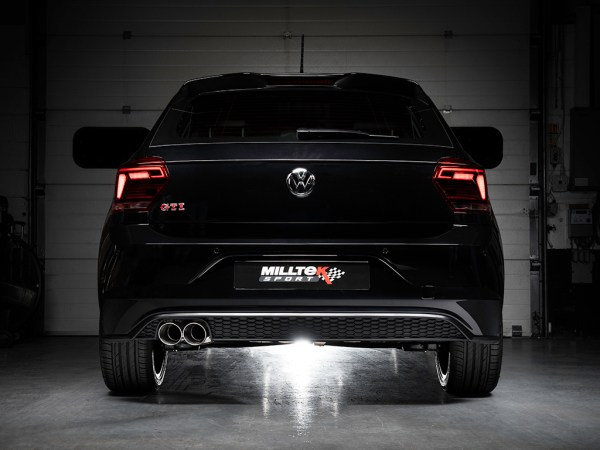 2019 Volkswagen Polo with Milltek Sport exhaust system