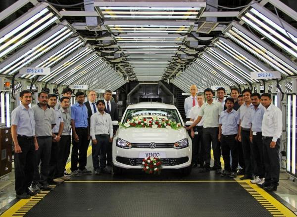 50,000th Volkswagen Vento exported from Volkswagen India