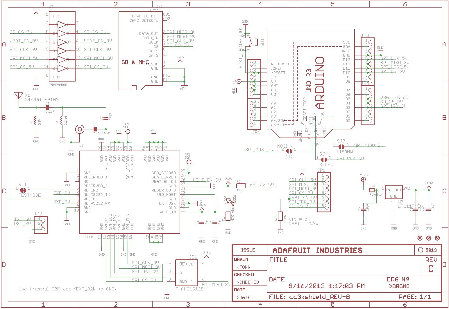 Ftdi Usb Serial Cable Wiring Diagram Pololu Adafruit Cc3000 Wi Fi Shield For Arduino With