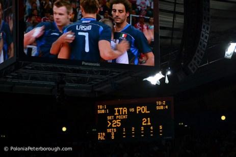 Mecz siatkówki Polska Włochy