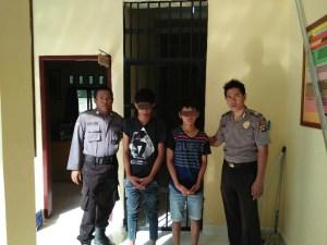 Curi Mesin Sanyo, Dua Remaja Dibekuk Polisi