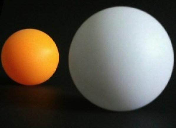 Biała i pomarańczowa kula