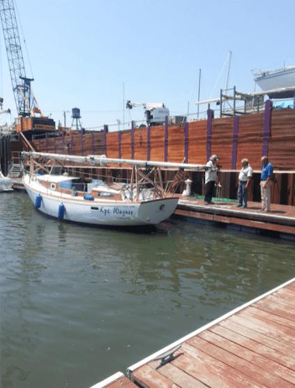 Jacht Kpt. Wagner przed wyruszeniem