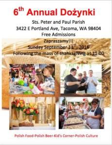 6th Annual Dozynki Sts. Peter & Paul Tacoma, WA