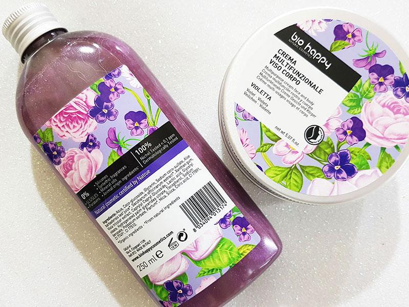 Bio Happy crema multifuzione e bagnoschiuma violetta